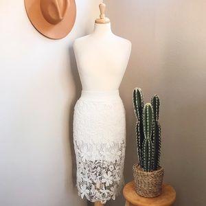 S A L E ⭐️ White Lace Skirt
